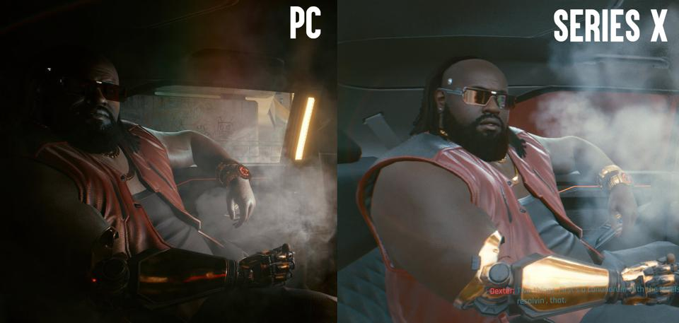 PC versus Series X (performance mode, HDR on)