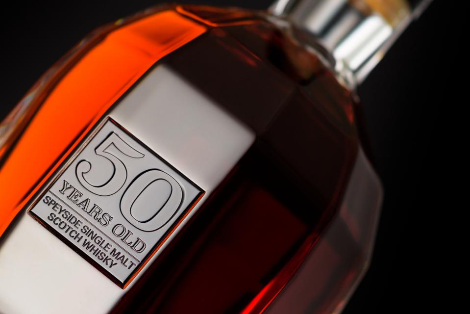 The Glenrothes 50-Year-Old, a marriage of sherry cask and ex-bourbon barrel whiskies is among the rarest drops of whisky on earth.