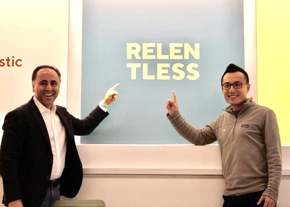 Pear VC cofounder Pejman Nozad with DoorDash CEO Tony Xu.