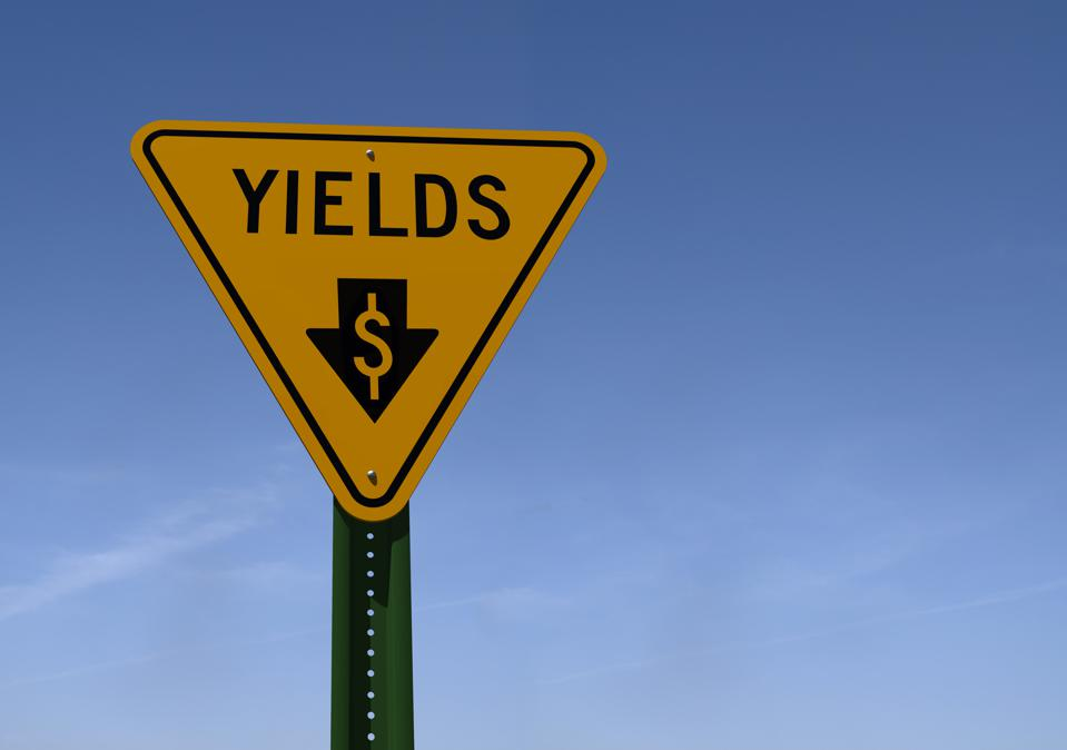 yields sign with downward pointing arrow