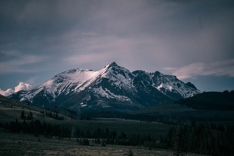 View of the Rocky Mountains.