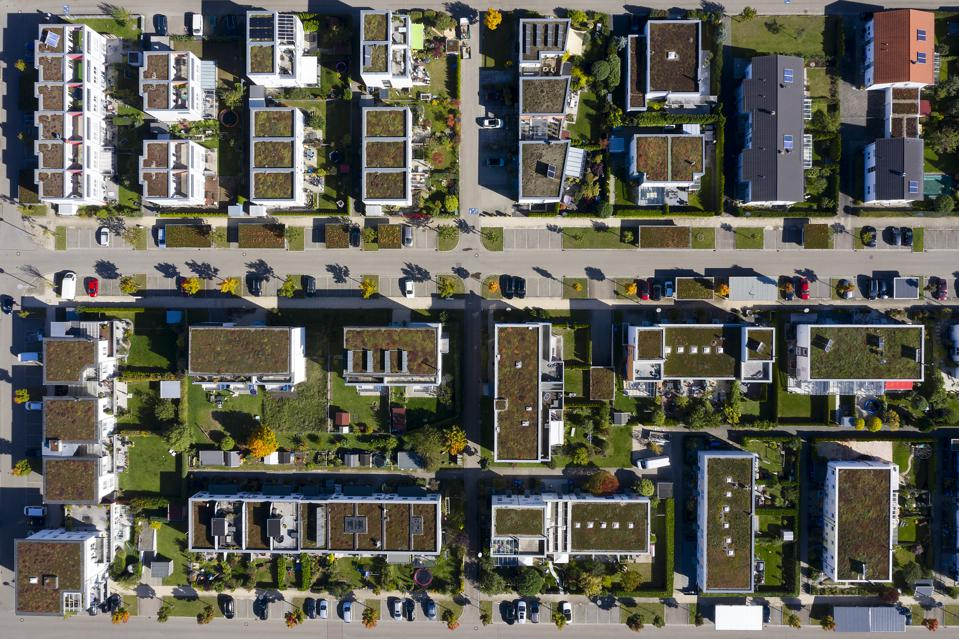 Residential Neighborhood from Directly Above