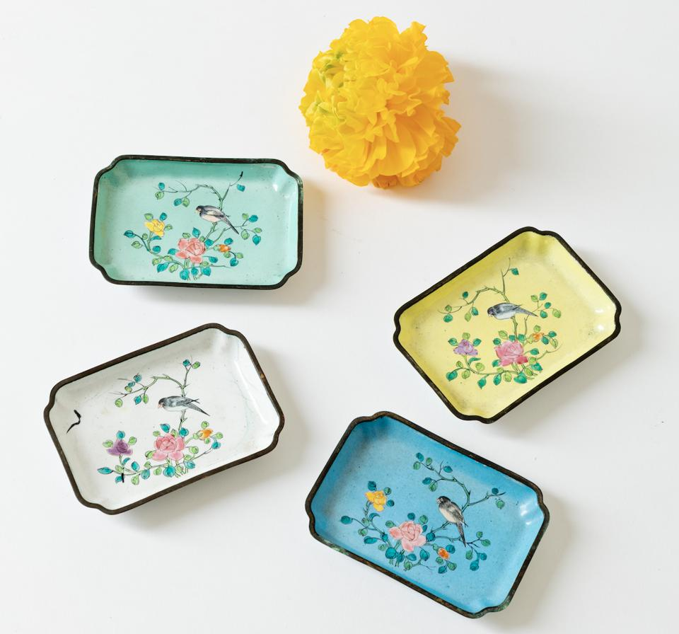 A set of whimsical plates.