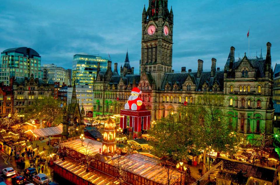Christmas in Manchester, England