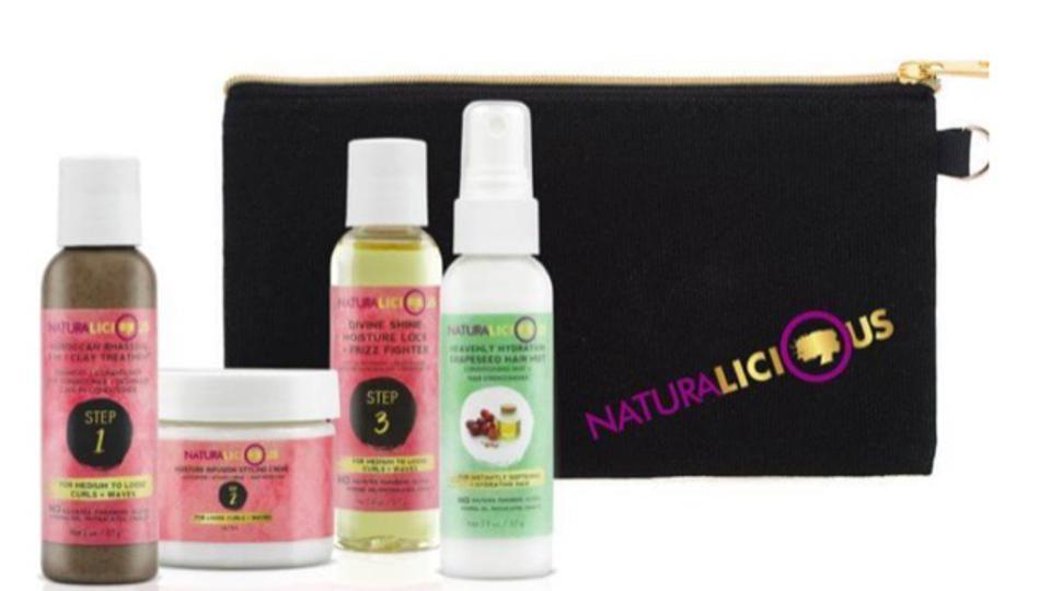 Deluxe Travel Set With Custom Clutch, Naturalicious