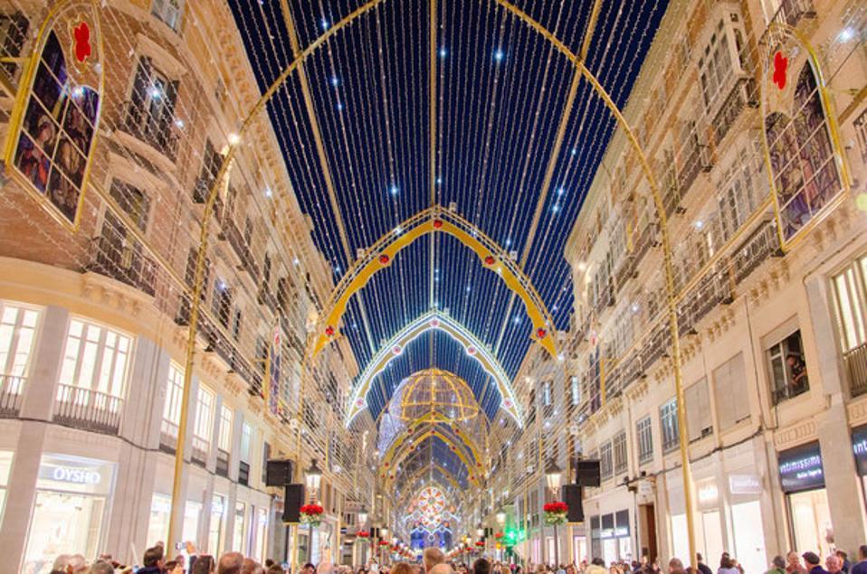 Christmas in Malaga, Spain.