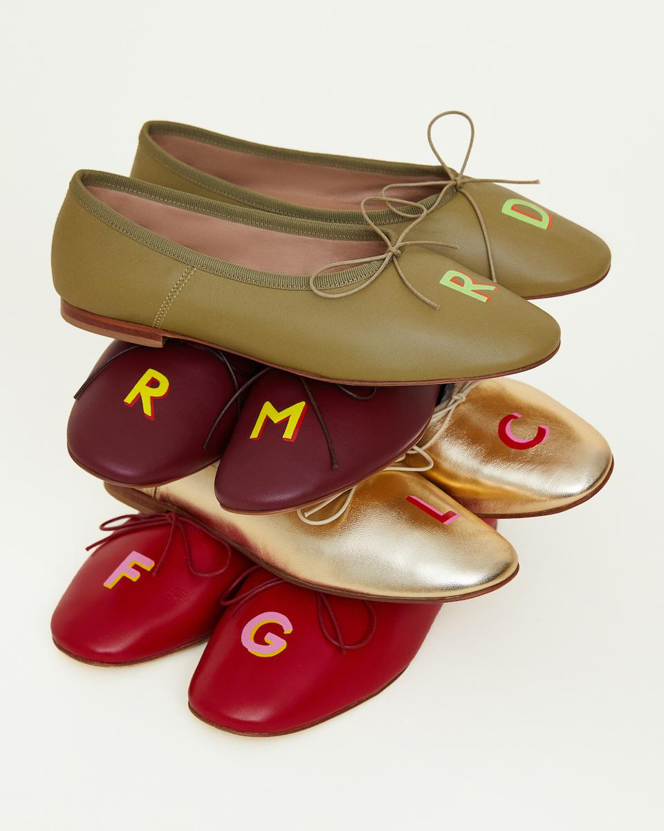 stack of ballet flats