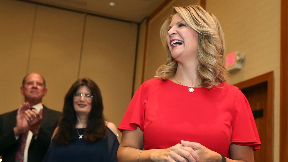 Arizona GOP Senate Candidate Kelli Ward Attends Primary Night Event In Scottsdale