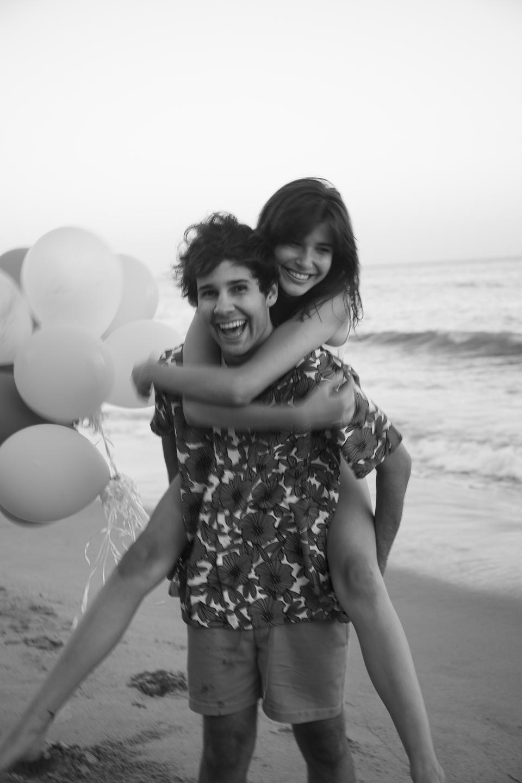 David Dobrik and lady friend - giving piggyback ride.#DavidsPerfume