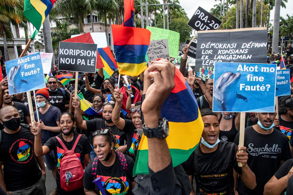 Environmental protestors have been subject to a massive human rights crack down in Mauritius since the large oil spill protests in August and September