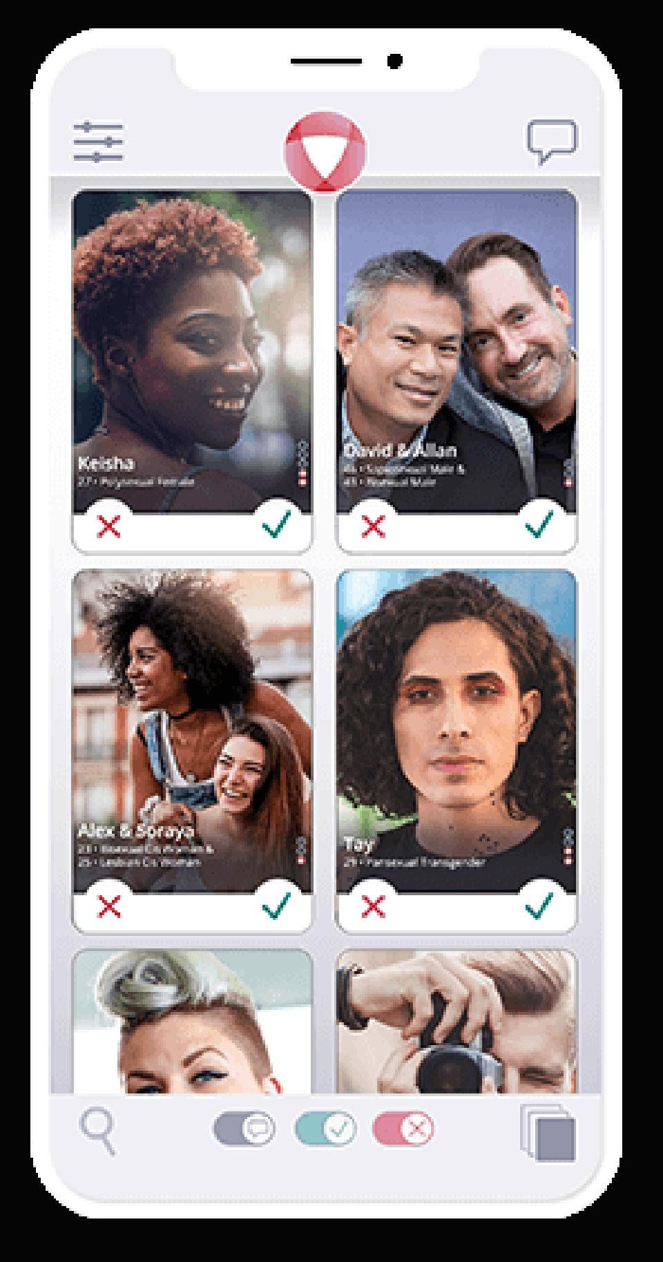 Hashtag open is a dating app that allows individuals and couples and thruples and more to engage each other in conversation, or more.