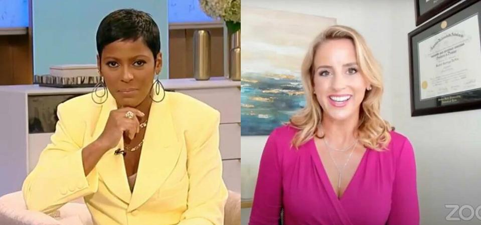 Rachel DeAlto talks with TV host Tamron Hall