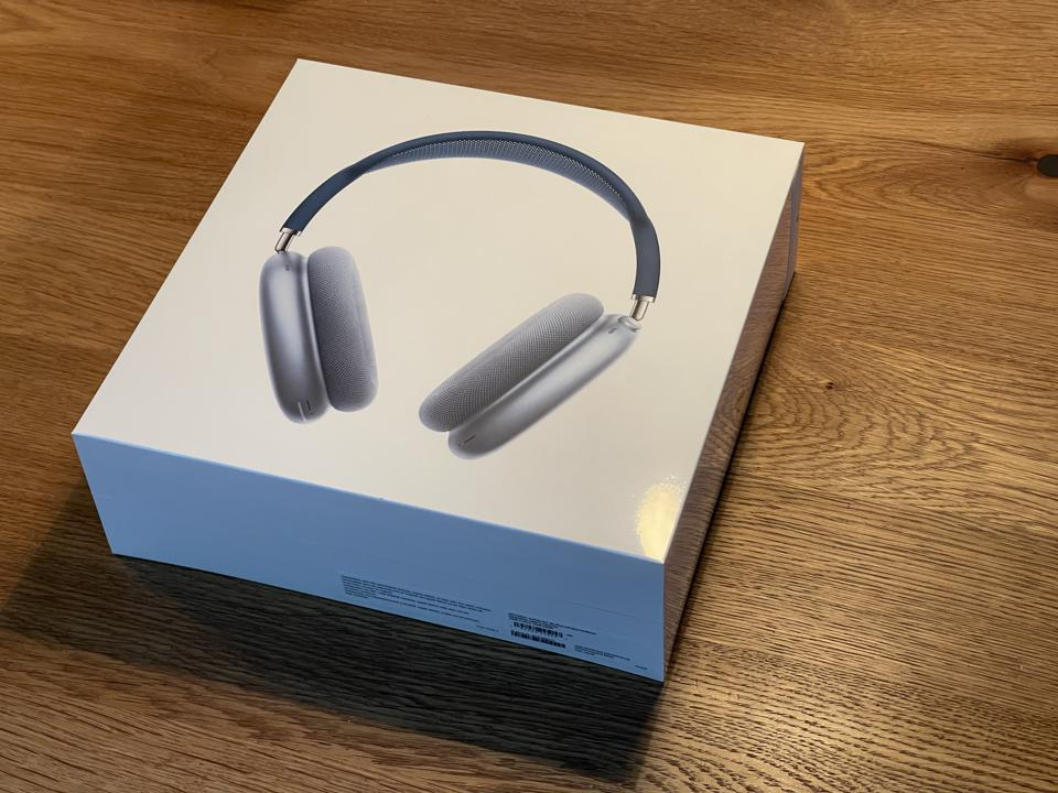 AirPods Max in box.