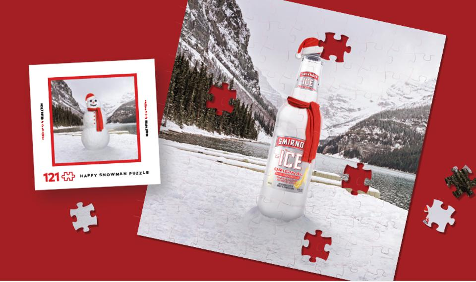 Smirnoff Ice is hiding bottles in puzzles this year.