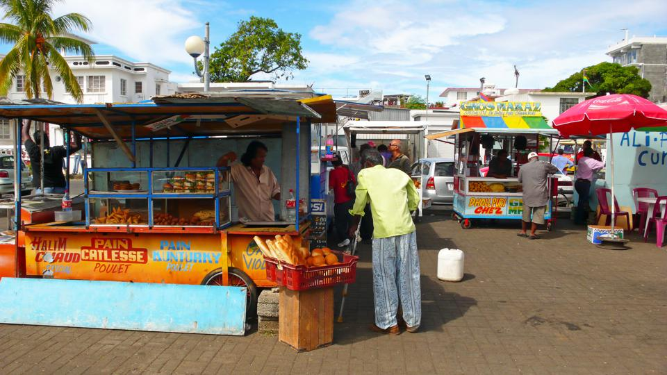Mahebourg: street food and market stalls with a broad variety gave Mahebourg a unique cultural identity.  Such street vendors in the semi-informal sector have been greatest hit with the way the response is being handled.