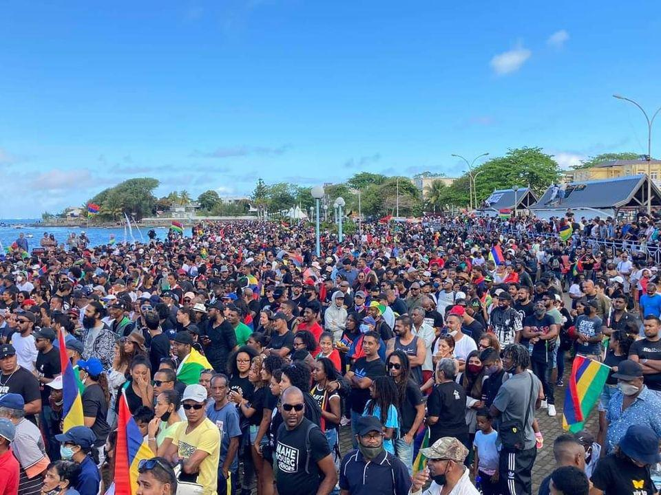 Over 100,000 marched in Port Louis on Aug 29 and tens of thousands marched along Mahebourg waterfront on Sep 12 in protest at the Government's response to the oil spill