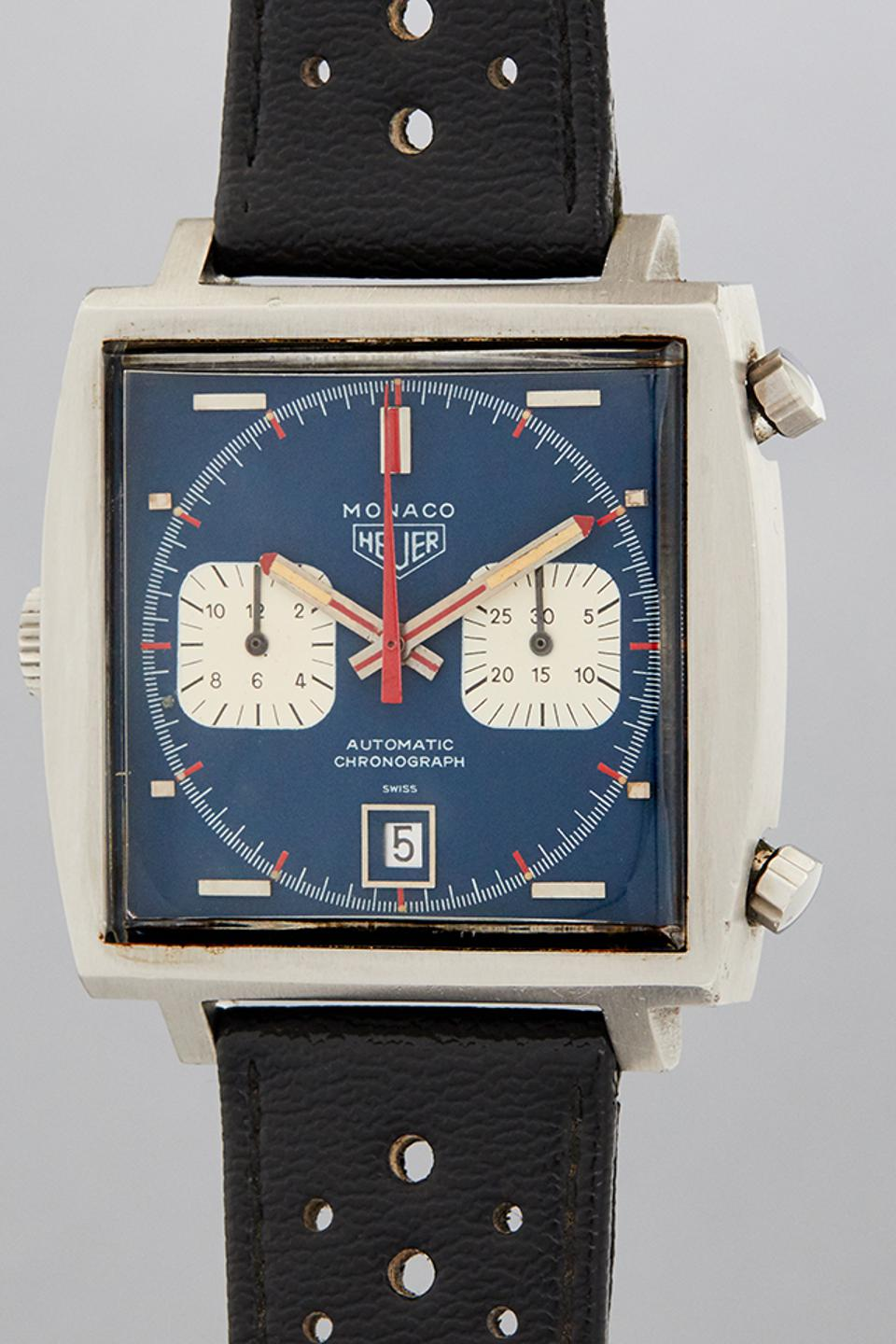 Phillips sold this Heuer Monaco ref. 1133, once owned by Steve McQueen, for $2,208,000.