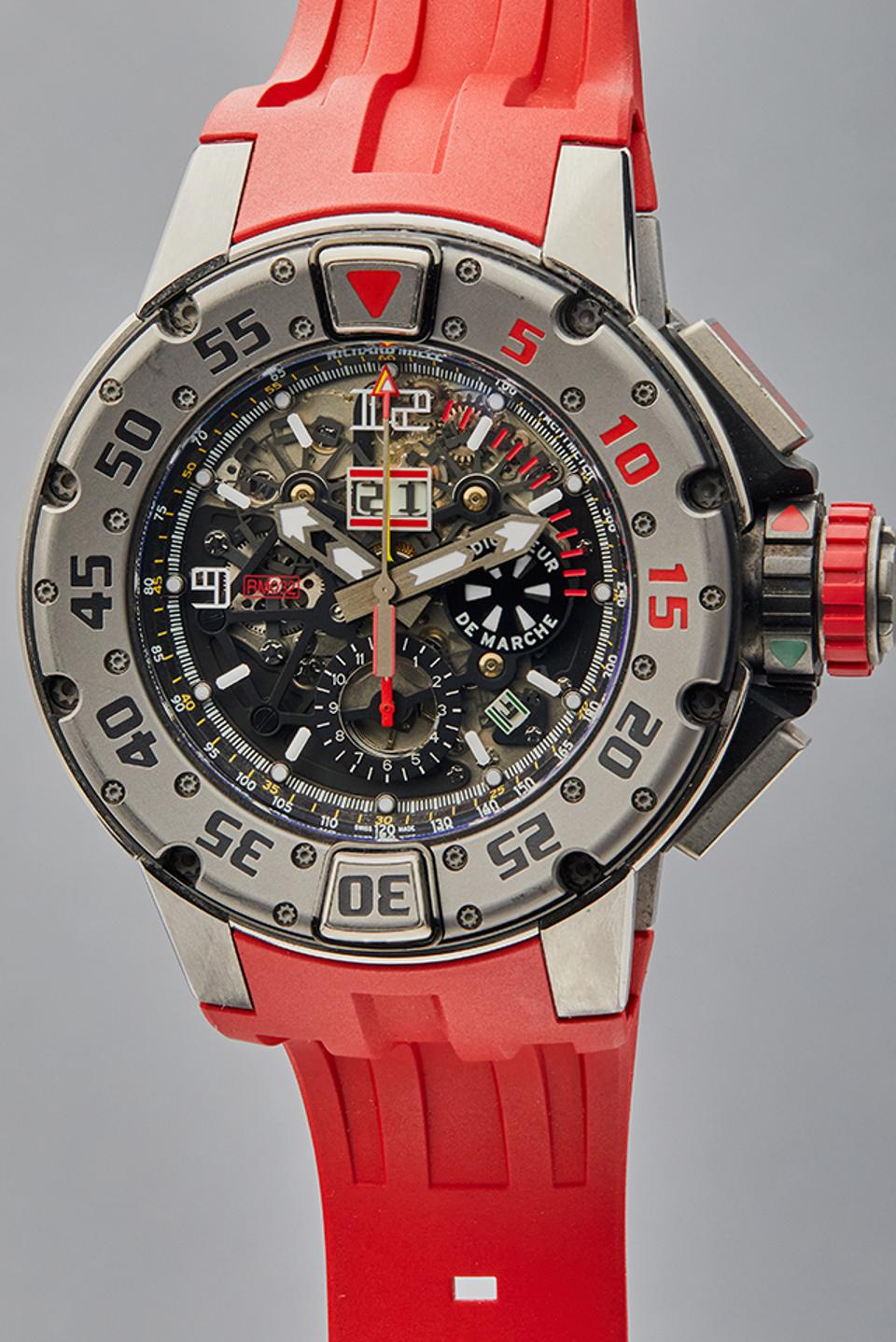 The Richard Mille RM 032 Sylvester Stallone wore in the film The Expendables III.