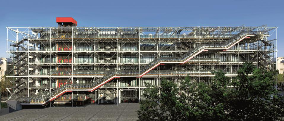 The iconic Centre Pompidou building by the architectural teams of Richard Rogers and Renzo Piano
