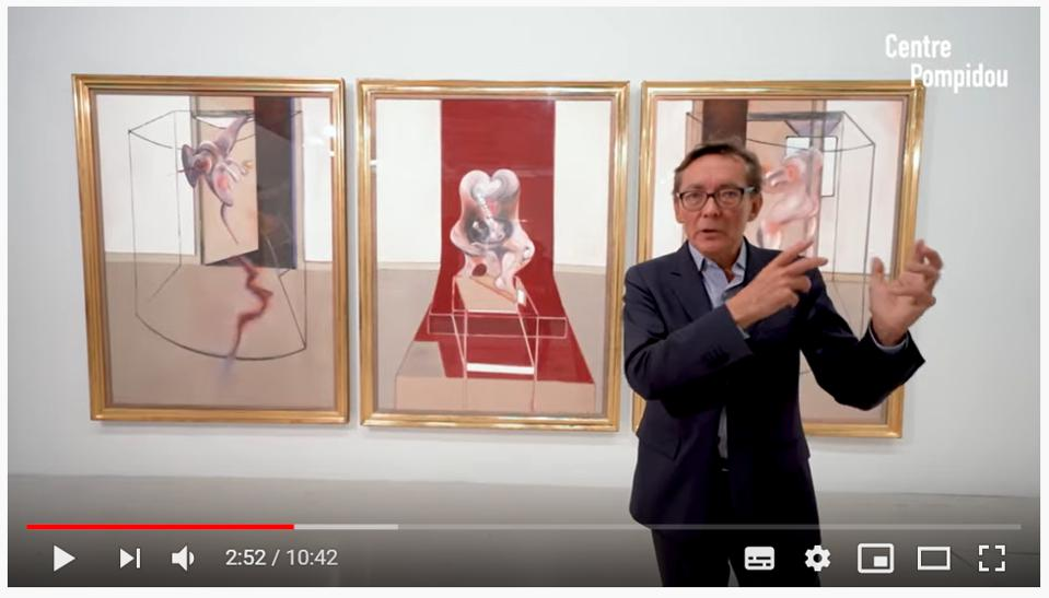 Didier Ottinger, French museum curator, art critic, author and assistant director of the National Museum of Modern Art at the Centre Pompidou, gives an online tour of the Francis Bacon exhibition