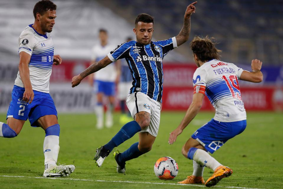 Copa Libertadores match between Gremio of Brazil and Universidad Catolica of Chile
