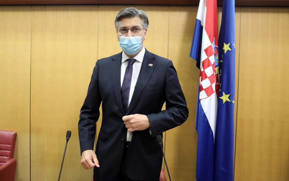 Croatian Prime Minister Andrej Plenkovic
