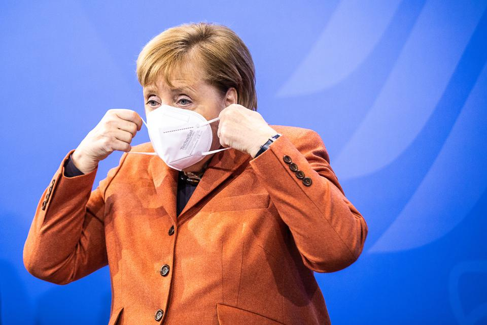 German Chancellor Angela Merkel announcing stricter lockdown measures on December 13, 2020 in Berlin, Germany.
