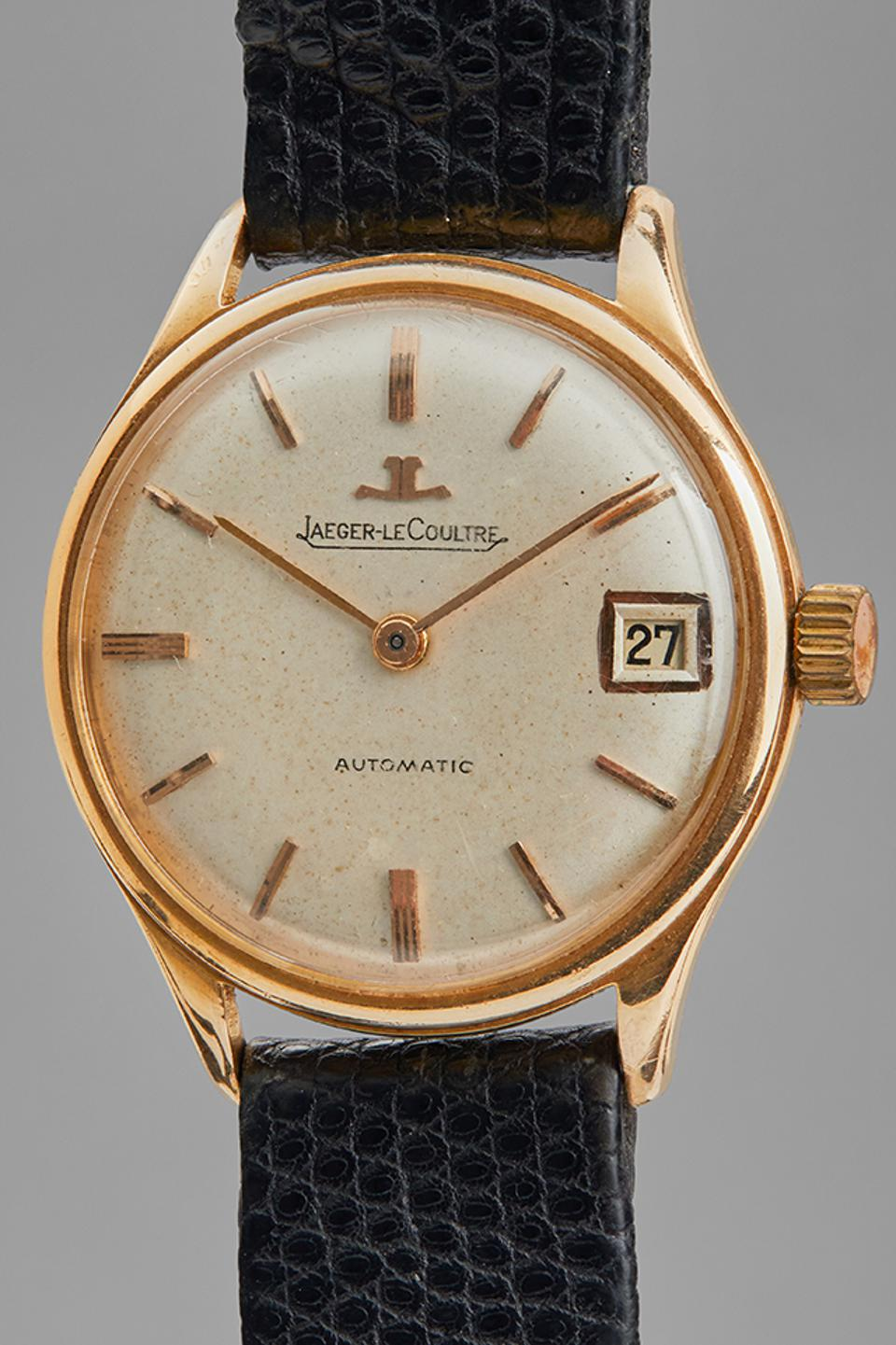 The Jaeger-LeCoultre donated by Bono for the Phillips auction benefiting One Drop Foundation.