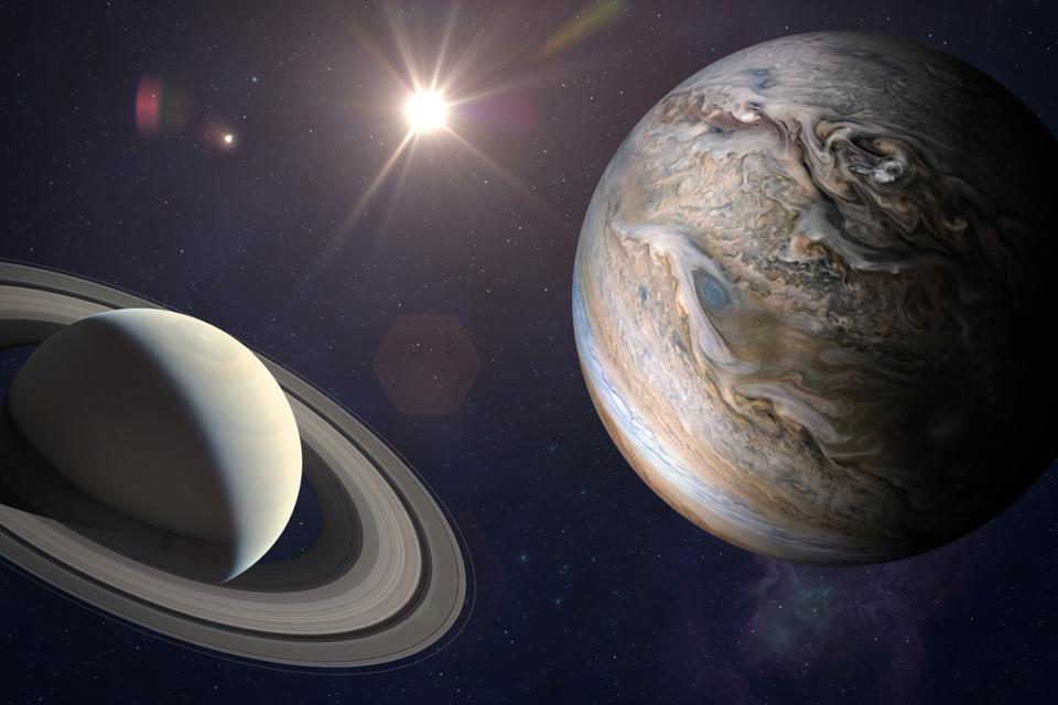 Jupiter and Saturn—as with all planets—have a ″opposition″ each year.