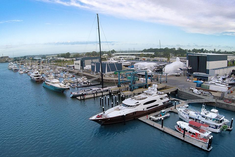 Rivergate Marina & Shipyard is one of Australia's premier superyacht marinas and shipyards.