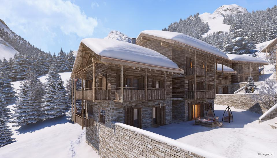 A luxury chalet in the Swiss Alps.