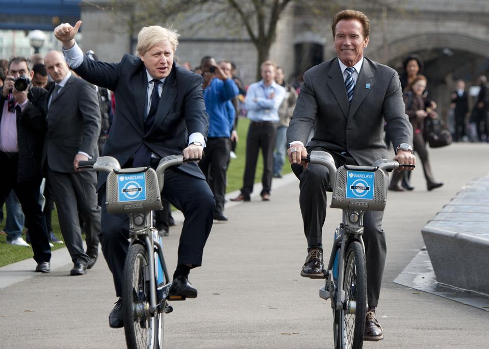 Mayor of London, Boris Johnson, (L) and