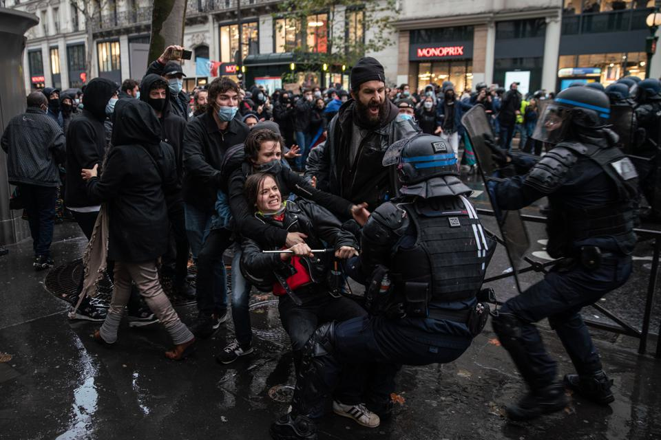 Protests Across Paris Against the Proposed Security Law