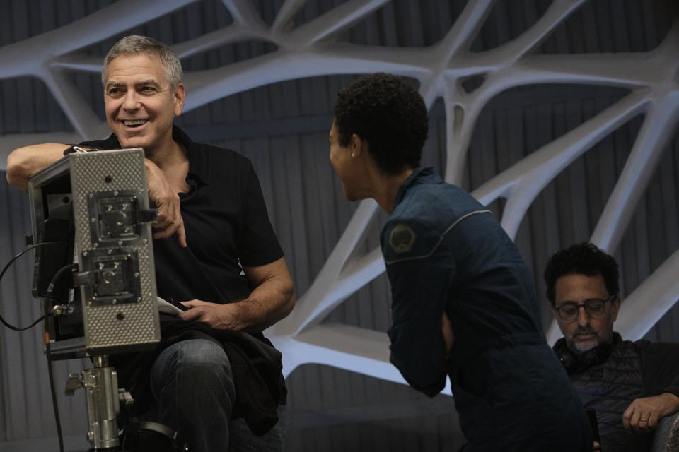 George Clooney on the set of his new film ″The Midnight Sky″