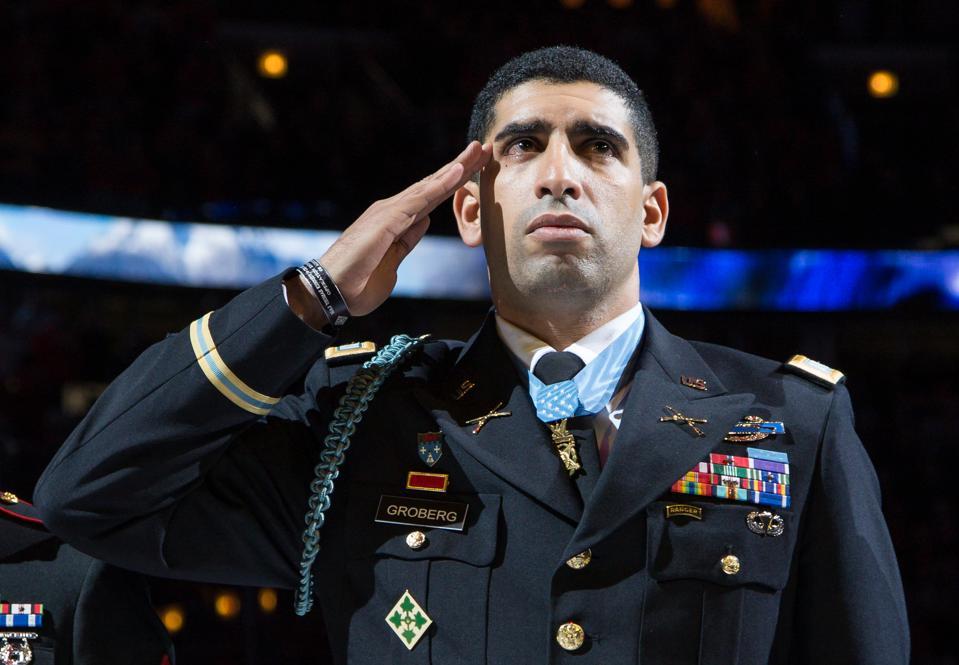 Medal of Honor recipient, Captain Florent Groberg