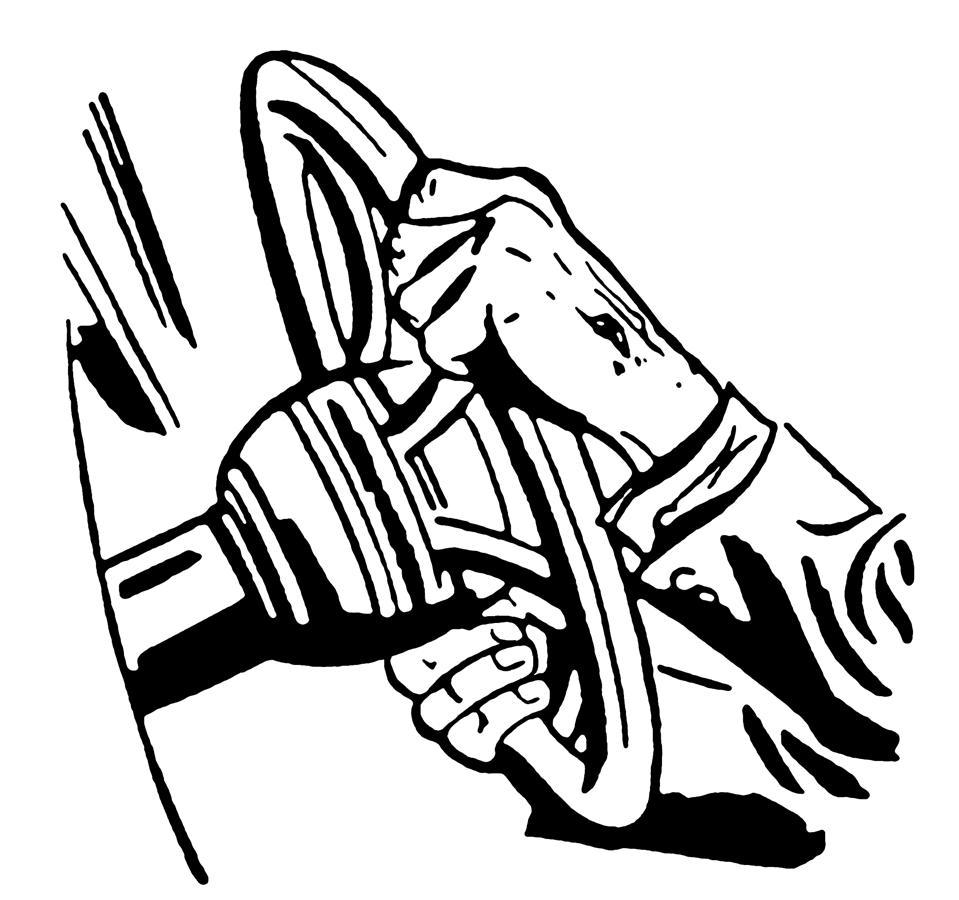 Man Gripping Steering Wheel