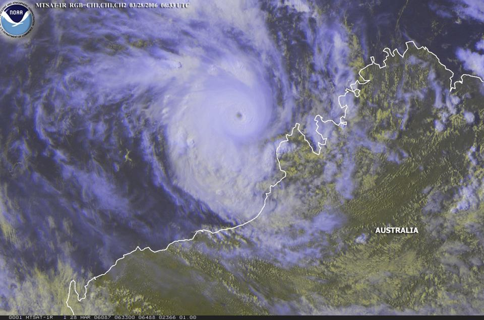 Tropical Cyclone Glenda Heads For Australia