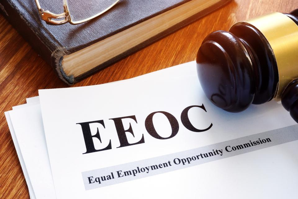 EEOC equal employment opportunity commission report and gavel