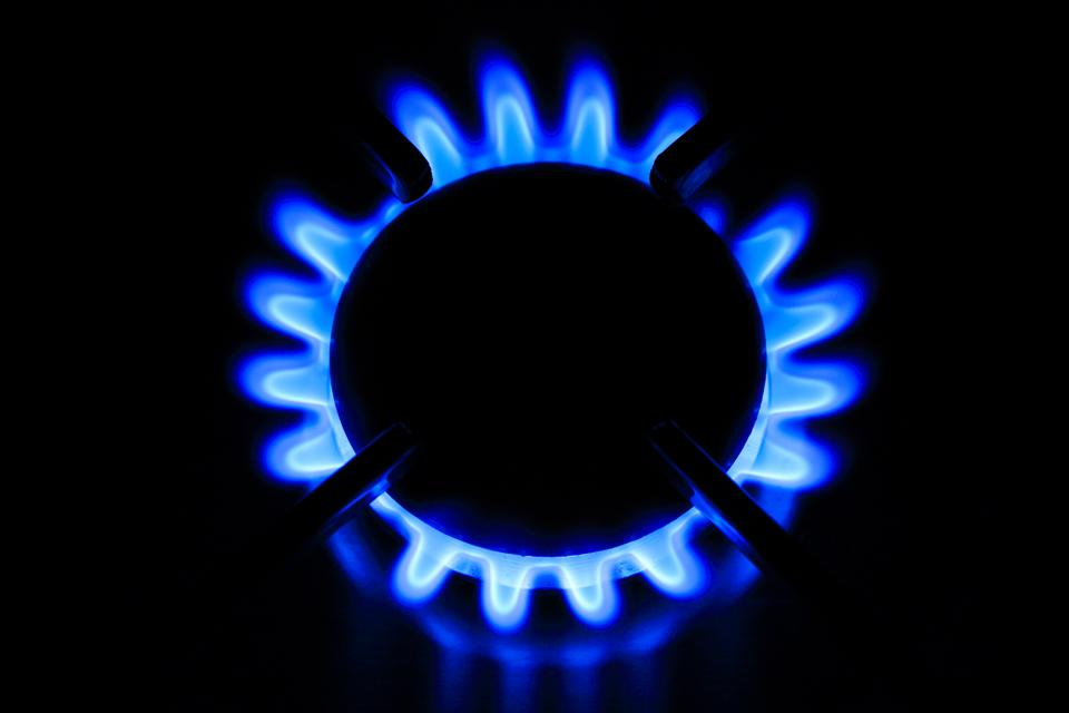 Natural gas at the burner tip.