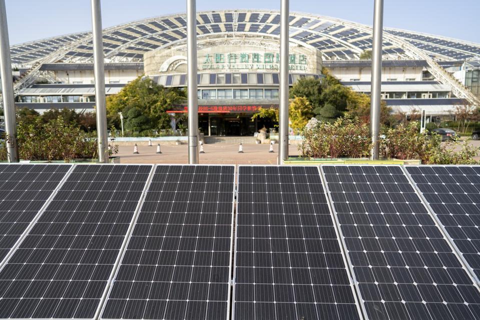 Micro-E hotel, a solar theme hotel with large area of solar...