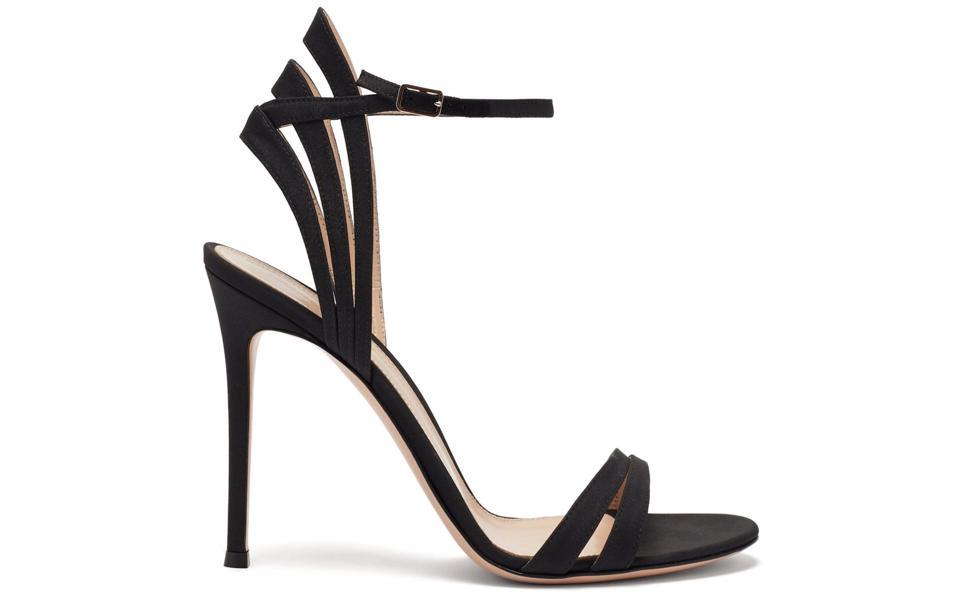 Suede Stiletto Sandals by Gianvito Rossi