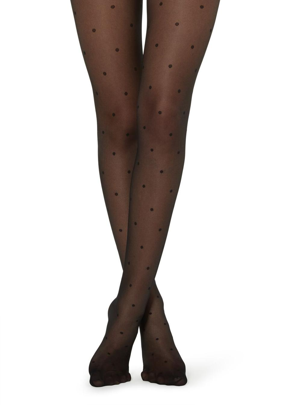 Sheer Polka-Dotted Tights by Calzedonia