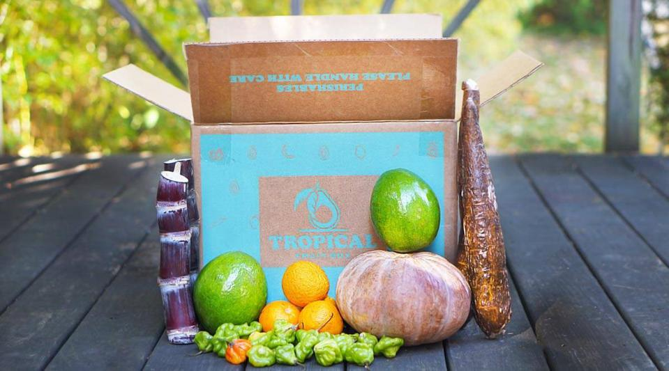 The Christmas box from Tropical Fruit Box