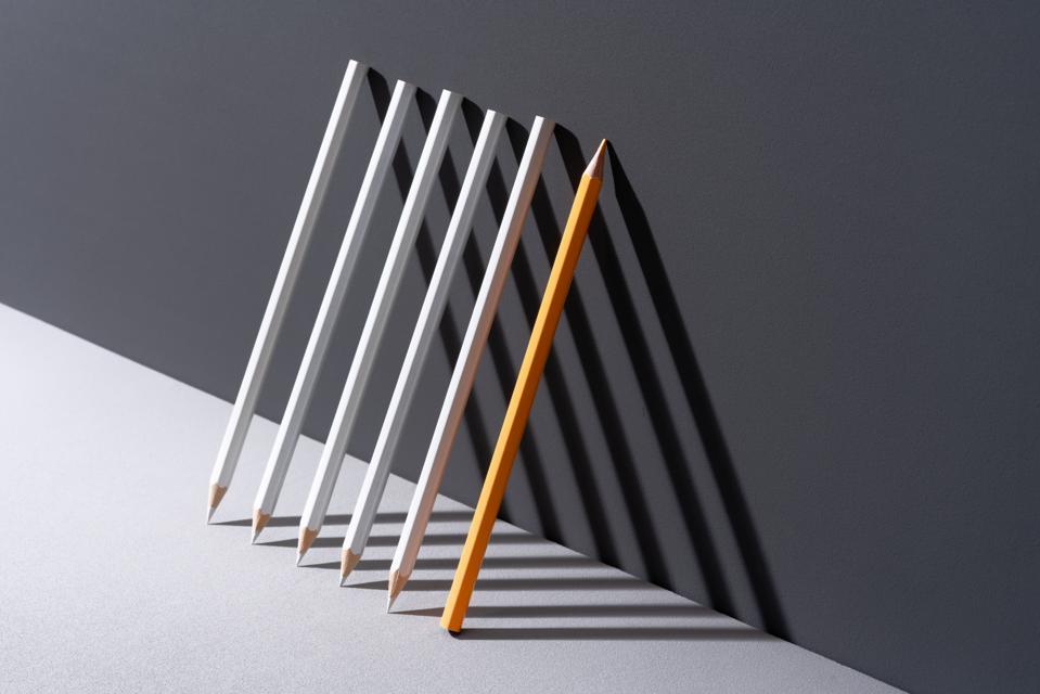 Pencils with Shadow Triangle Shape