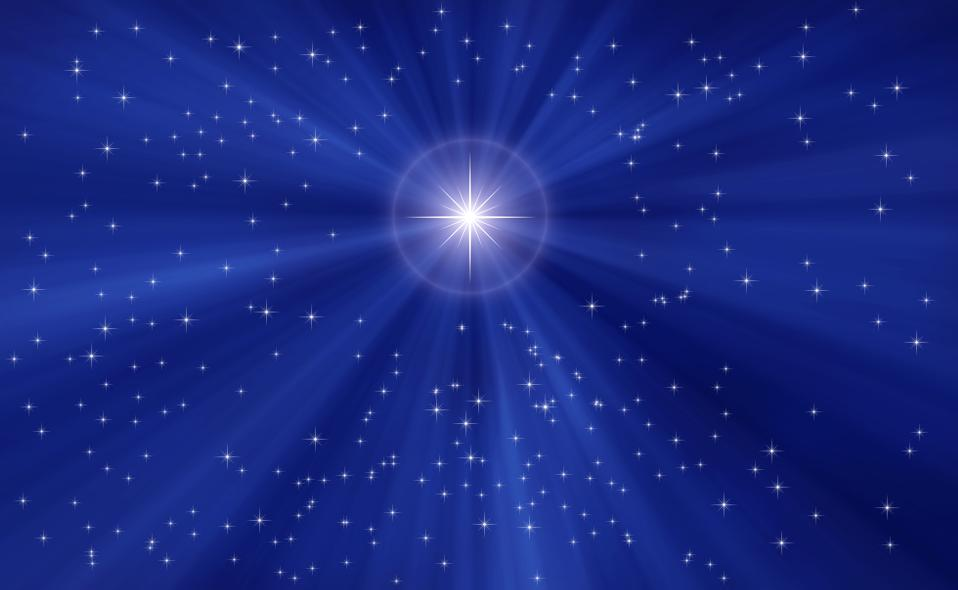 Christmas star blue background
