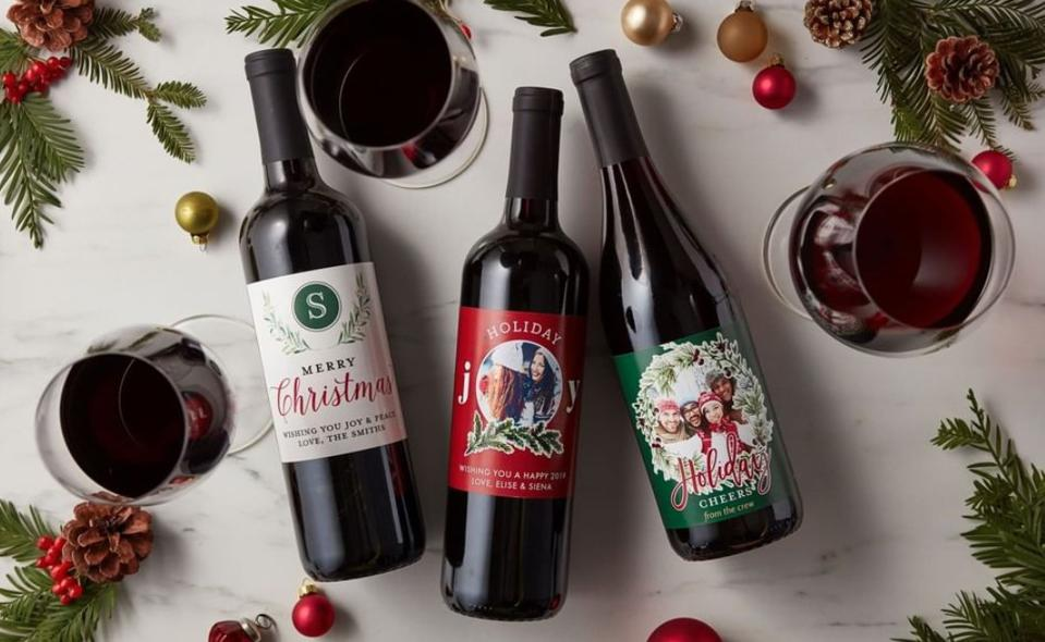 Give the gift of personalized wine.