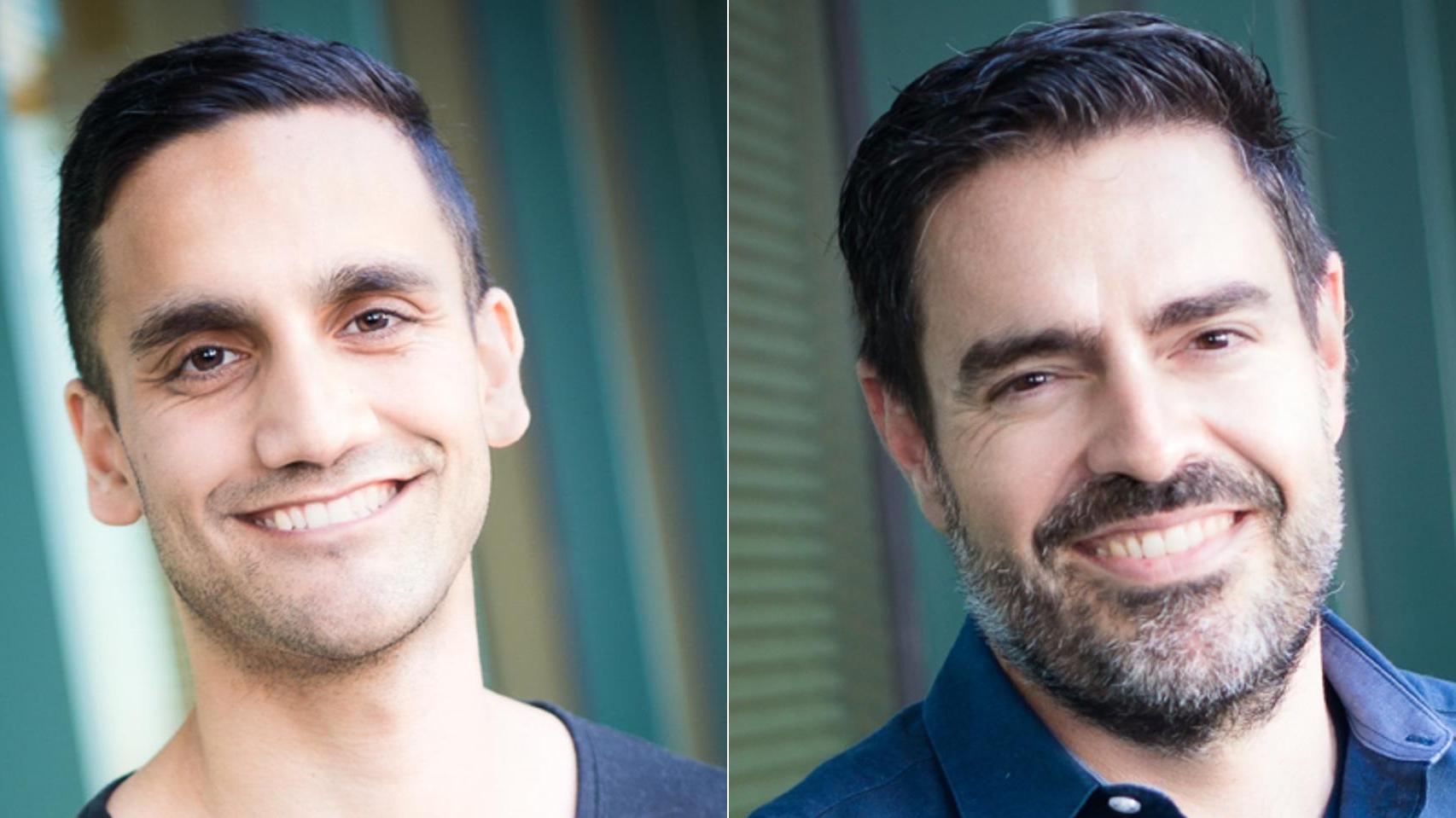 Cureai cofounders Neal Khosla (L) and Xavier Amatriain (R)