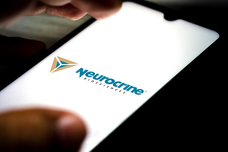 In this photo illustration the Neurocrine Biosciences logo...