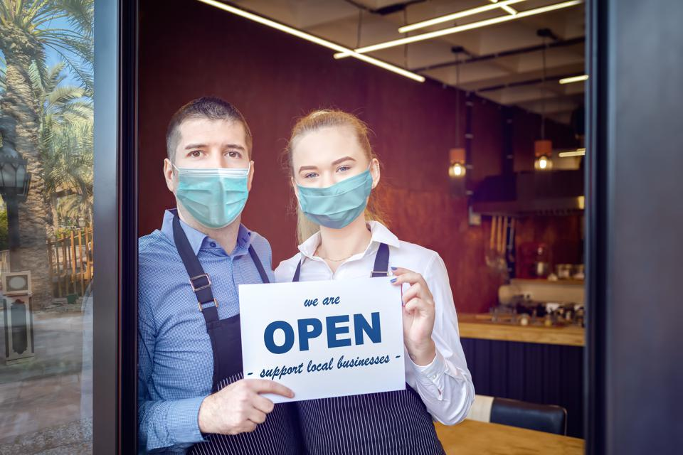 Retail Industry - Reopening of a small business activity after the covid-19 lockdown quarantine