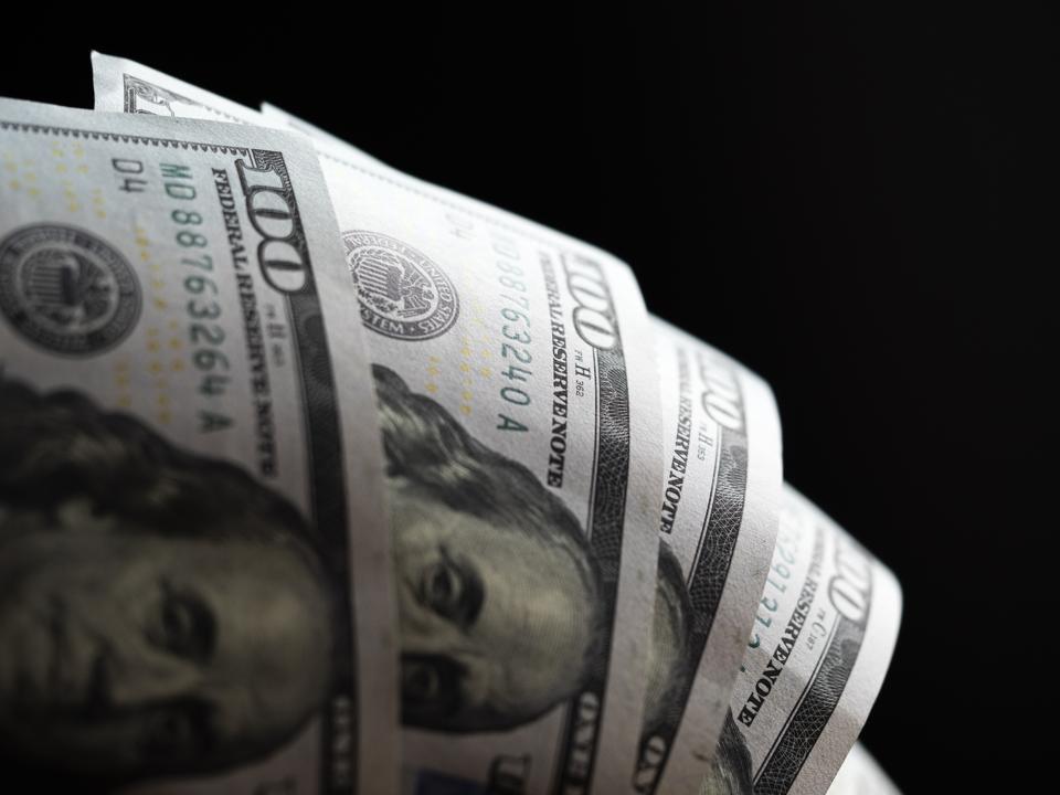 A photo illustration of US 100 dollar bills...